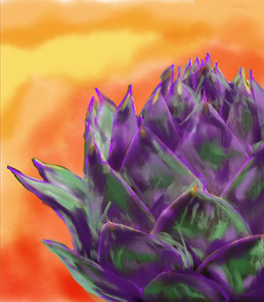 Purple Artichoke - Barbara Harvie (digital)