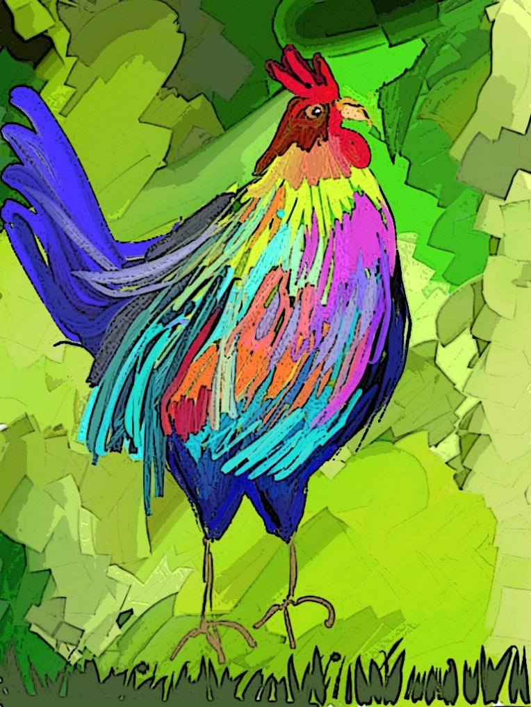 Rooster by Barbara Harvie created using ArtRage on iPad